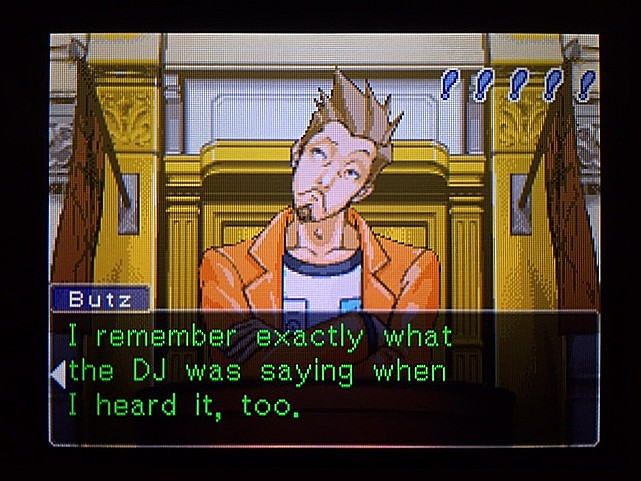 逆転裁判 北米版 DJの言葉1