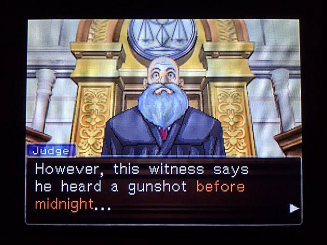 逆転裁判 北米版 イヴの銃声の証拠3