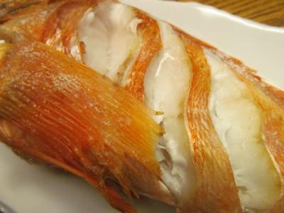 ユメカサゴの塩焼きアップ