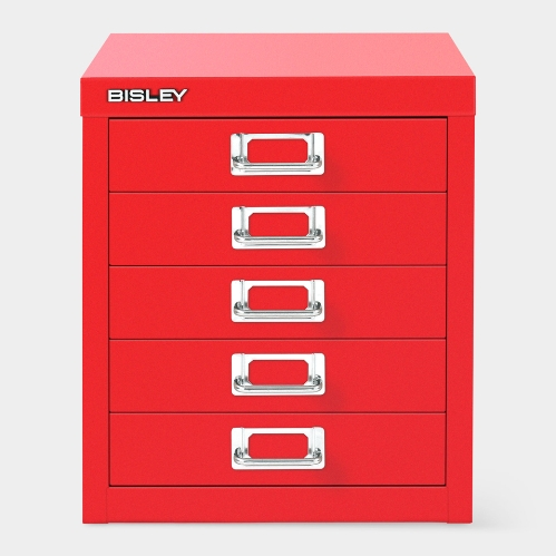 Bisley キャビネット 5ユニット レッド Frederick Charles Brown,1958 BISLEY(ビスレー)