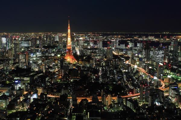 東京の冬の夜景
