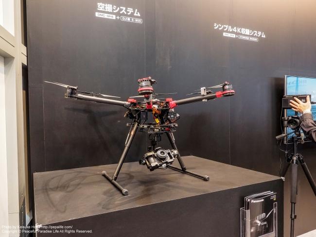 CP+2015 パナソニック 空撮システム DMC-GH4+DJI S-900