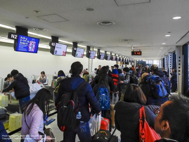 タイ・エアアジアXのチェックインカウンター