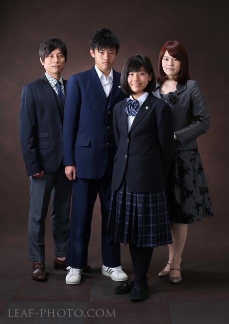 入学写真 家族写真