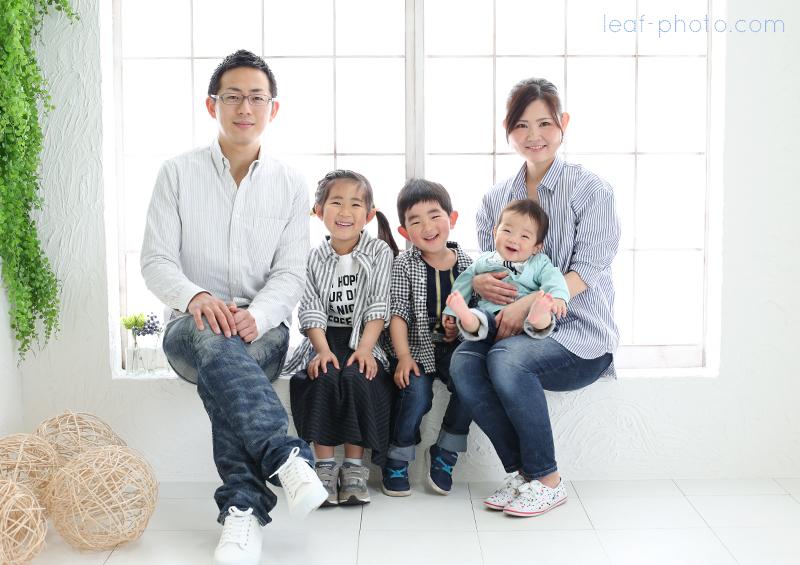ハーフバースデー 家族写真