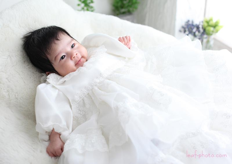 ベビードレス 赤ちゃん お宮参り写真