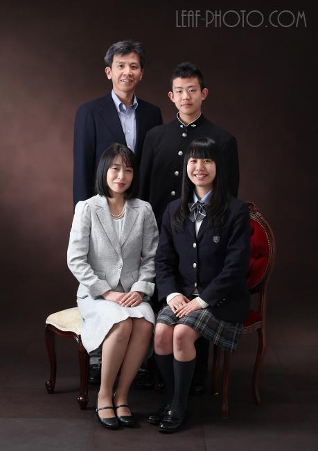 ご入学記念撮影 家族写真