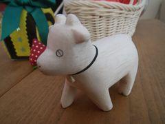 [写真]お客様からいただいたポレポレ動物シリーズの木彫りヤギ