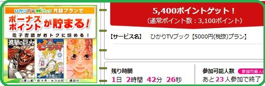 ハピタス・ひかりTVブック